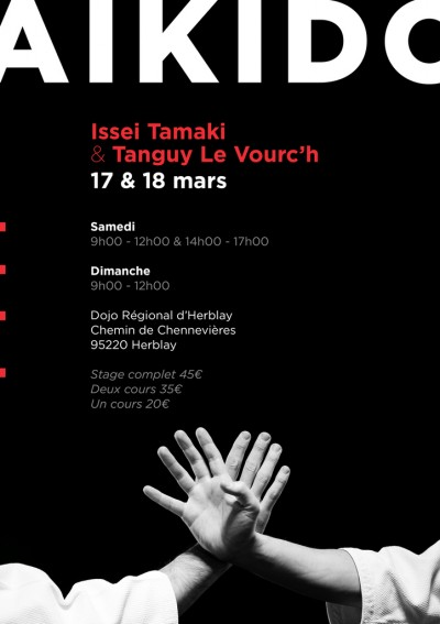 Stage Aïkido Issei Tamaki et Tanguy Le Vourc'h à Herblay